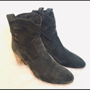 Alberto Fermani gray suede ankle boots
